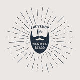 Vector beard with hipster lettering Royalty Free Stock Images