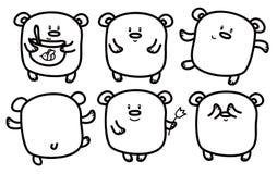 Vector  bears  cartoons. Royalty Free Stock Image