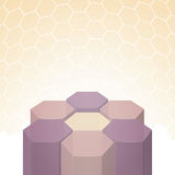 Vector beautiful 3D polygon flower background Royalty Free Stock Photography
