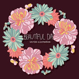 Vector beautiful bright floral pattern Royalty Free Stock Image