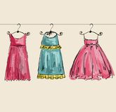 Vector beautiful clothes Royalty Free Stock Images