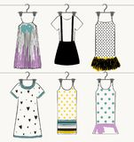 Vector beautiful clothes Stock Image