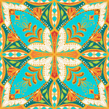 Vector beautiful colored pattern for design and fashion with decorative elements. Floral ethnic bandana Royalty Free Stock Photos