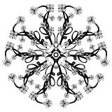 Vector Beautiful Deco Black Floral Mandala Royalty Free Stock Photo