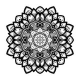 Vector Beautiful Deco Black Mandala Stock Image