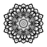 Vector Beautiful Deco Black Mandala Stock Image