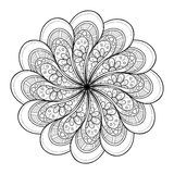 Vector Beautiful Deco Black Mandala Royalty Free Stock Photography