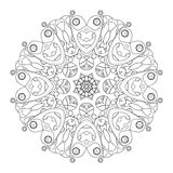 Vector Beautiful Deco Black Mandala Royalty Free Stock Photo
