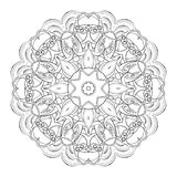 Vector Beautiful Deco Black Mandala Royalty Free Stock Images