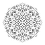 Vector Beautiful Deco Black Mandala royalty free illustration