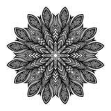 Vector Beautiful Deco Black Mandala Royalty Free Stock Image