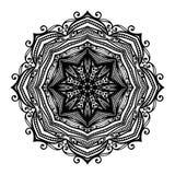 Vector Beautiful Deco Black Mandala Stock Photo
