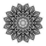 Vector Beautiful Deco Black Mandala Royalty Free Stock Photos