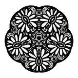 Vector Beautiful Deco Black Star Royalty Free Stock Image