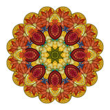 Vector Beautiful Deco Colored contour Mandala Royalty Free Stock Photography
