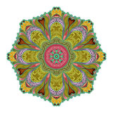 Vector Beautiful Deco Colored contour Mandala. Patterned Design Element, Ethnic Amulet Stock Photography