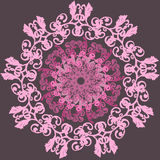 Vector Beautiful Deco Colored contour  Patterned Royalty Free Stock Image