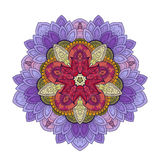 Vector Beautiful Deco Colored Contour Star, Patterned Design Element Royalty Free Stock Images