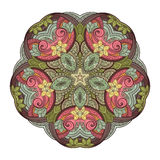 Vector Beautiful Deco Colored Contour Star, Patterned Design Element Royalty Free Stock Photography