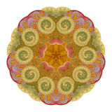Vector Beautiful Deco Colored Contour Star, Patterned Design Element Royalty Free Stock Image