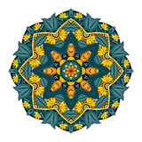 Vector Beautiful Deco Colored Mandala Royalty Free Stock Images