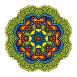 Vector Beautiful Deco Colored Mandala royalty free illustration
