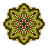 Vector Beautiful Deco Colored Mandala Royalty Free Stock Photo