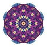 Vector Beautiful Deco Colored Mandala. Patterned Design Element, Ethnic Amulet Royalty Free Stock Photos