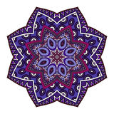 Vector Beautiful Deco Colored Mandala Royalty Free Stock Image