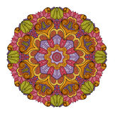Vector Beautiful Deco Colored Mandala Stock Photography
