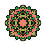 Vector Beautiful Deco Colored Mandala, Patterned Design Element, Ethnic Amulet Stock Images