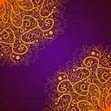 Vector Beautiful Deco Gold Mandala, Patterned Design Element, Ethnic Amulet Stock Photography