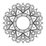 Vector Beautiful Deco Mandala Royalty Free Stock Photo
