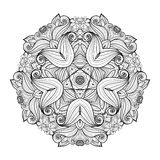 Vector Beautiful Deco Monochrome Contour Star, Patterned Design Element Stock Photography