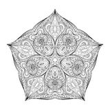 Vector Beautiful Deco Monochrome Contour Star, Patterned Design Element Royalty Free Stock Images