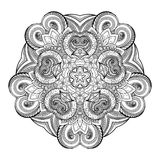 Vector Beautiful Deco Monochrome Contour Star, Patterned Design Element Stock Photography