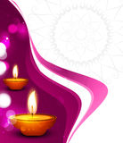Vector beautiful diwali festival colorful wave celebration Stock Images