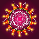 Vector beautiful diwali festival cracker colorful design. Vector beautiful diwali festival cracker colorful fantastic background Stock Images