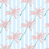 Vector Beautiful exotic tropical summer pattern with palm trees Stock Photos