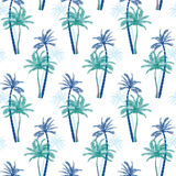 Vector Beautiful exotic tropical summer pattern with palm trees Stock Image