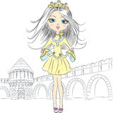 Vector beautiful fashion girl princess Royalty Free Stock Image