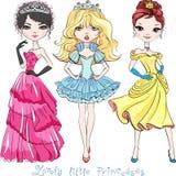 Vector Beautiful Fashion Girl Princesses Stock Photography