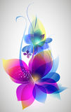 Vector beautiful flower background art Stock Images
