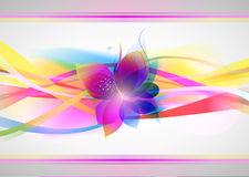 Vector beautiful flower background art Royalty Free Stock Image