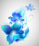 Vector beautiful flower background art Royalty Free Stock Photos