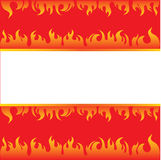Vector beautiful frame background with fire. (from my big Fire set Royalty Free Stock Images