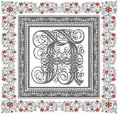 Vector. Beautiful frame with a flower ornament Stock Image
