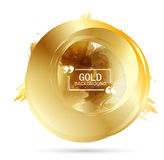 Vector Beautiful Gold Satin. Vector Beautiful Gold Circle. Template brochure design stock illustration