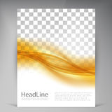 Vector Beautiful Gold Satin Flyer. Template flyers design. business brochure Royalty Free Stock Images