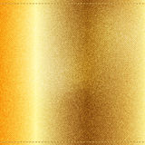 Vector Beautiful Gold Satin. Vector Beautiful Gold Jeans texture. Template brochure design Royalty Free Stock Images